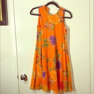 Orange floral Calvin Klein dress worn once